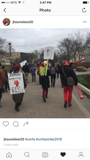 University of Manitoba Faculty Association strike picket lines.